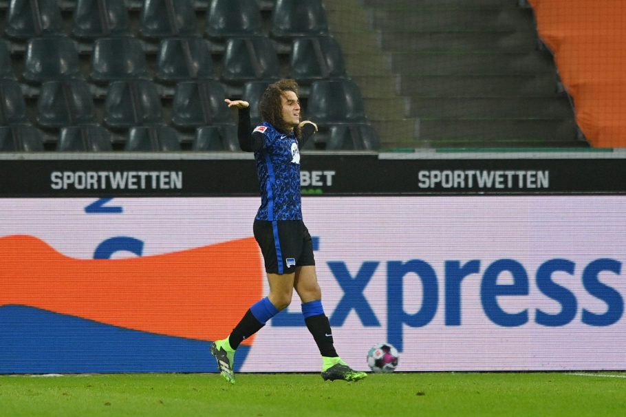 Guendouzi's loan stint hits rocky patch as Hertha dragged into relegation scrap with Arsenal man spotted arguing with teammates