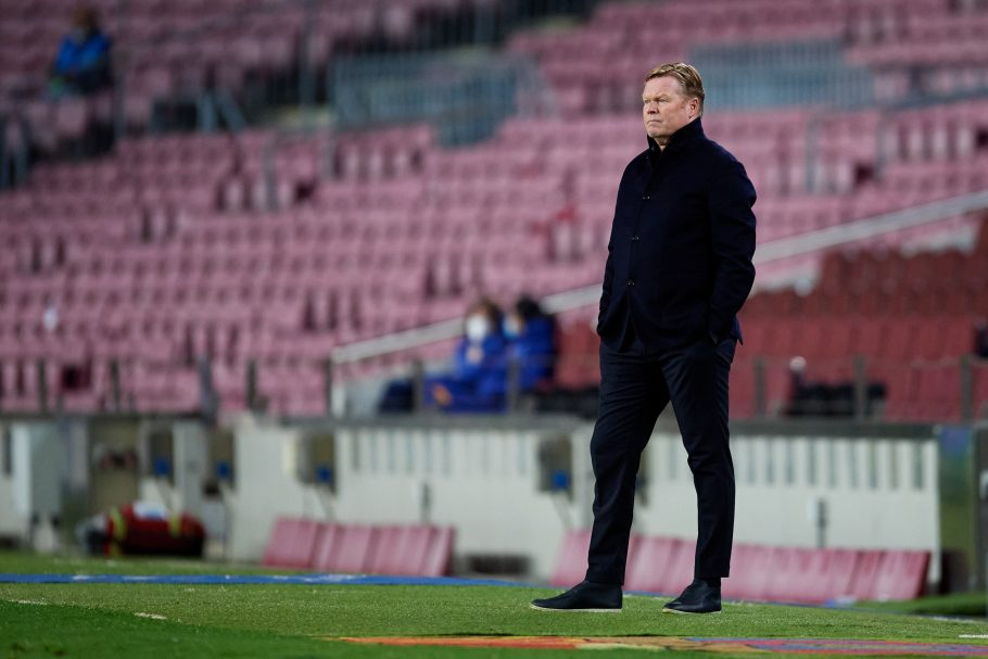 Concerning scenes as Barcelona boss Koeman ends press conference early following latest nose bleed