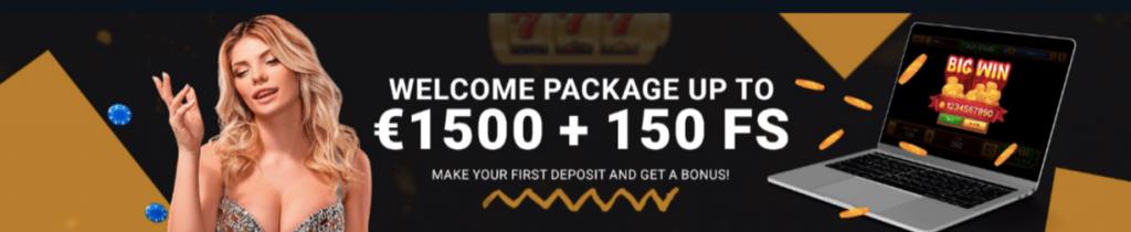 Бонус на 1500 EUR в казино 1xBet